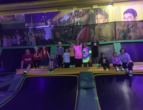 Youth Choir at the Trampoline Park on 11/10